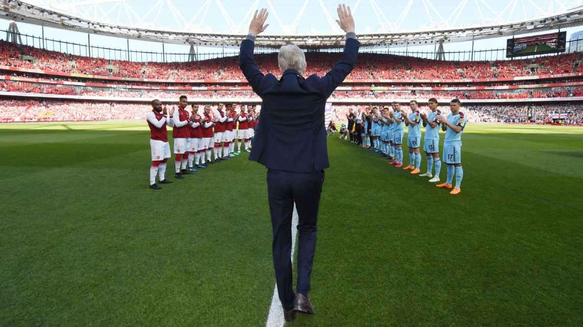Arsene Wenger was given a guard of honour ahead of his final home match at Arsenal. Stuart MacFarlane/Arsenal FC via Getty Images